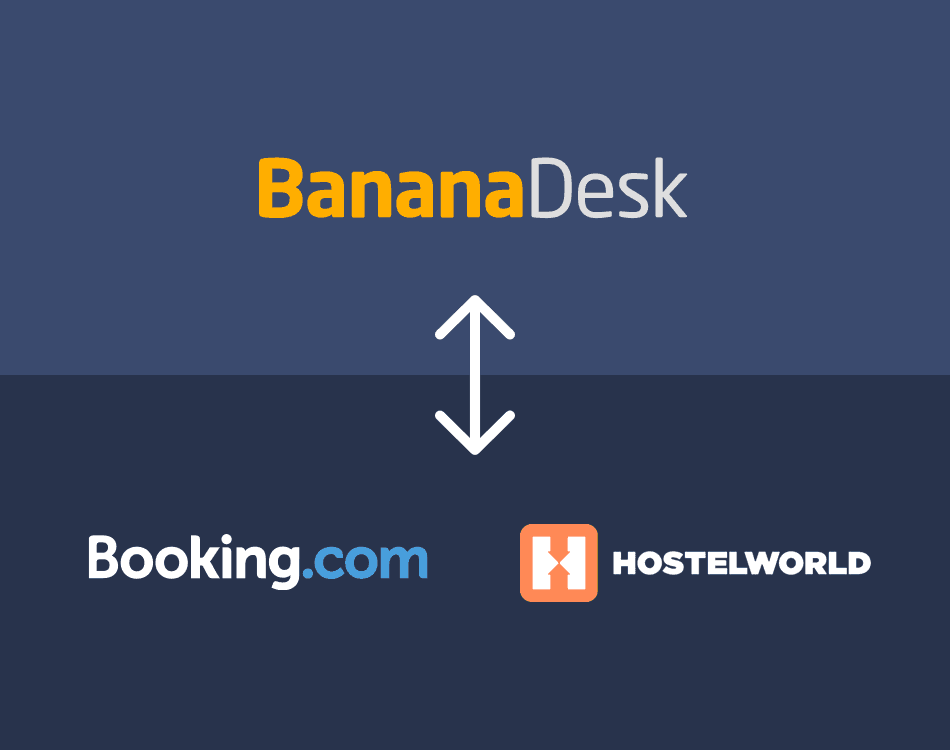 Connect Hostelworld with BananaDesk and you are all done!